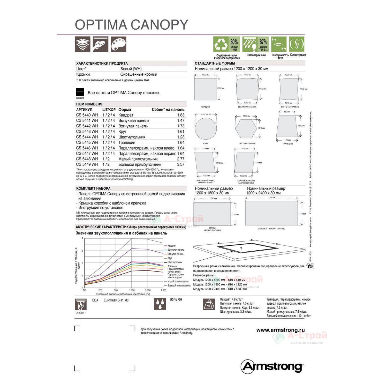 Потолки-фрагменты Армстронг OPTIMA CANOPY (Оптима Кэнопи)