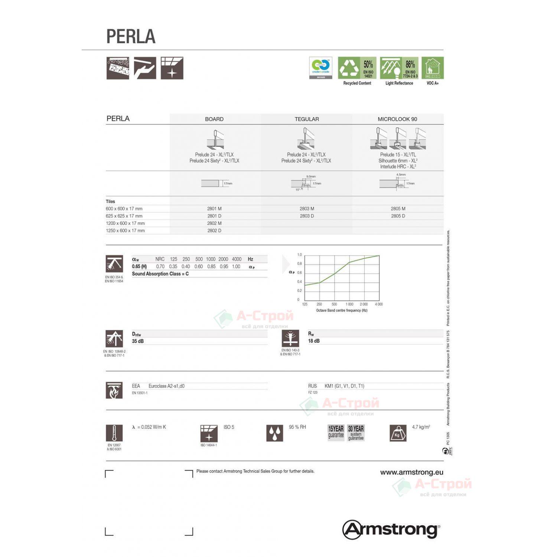 Подвесной потолок Армстронг PERLA (ПЕРЛА) Board