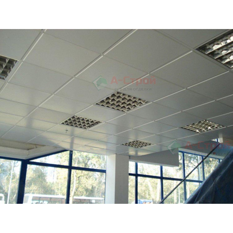 Кассетный потолок оцинкованный АР600А6 белый матовый