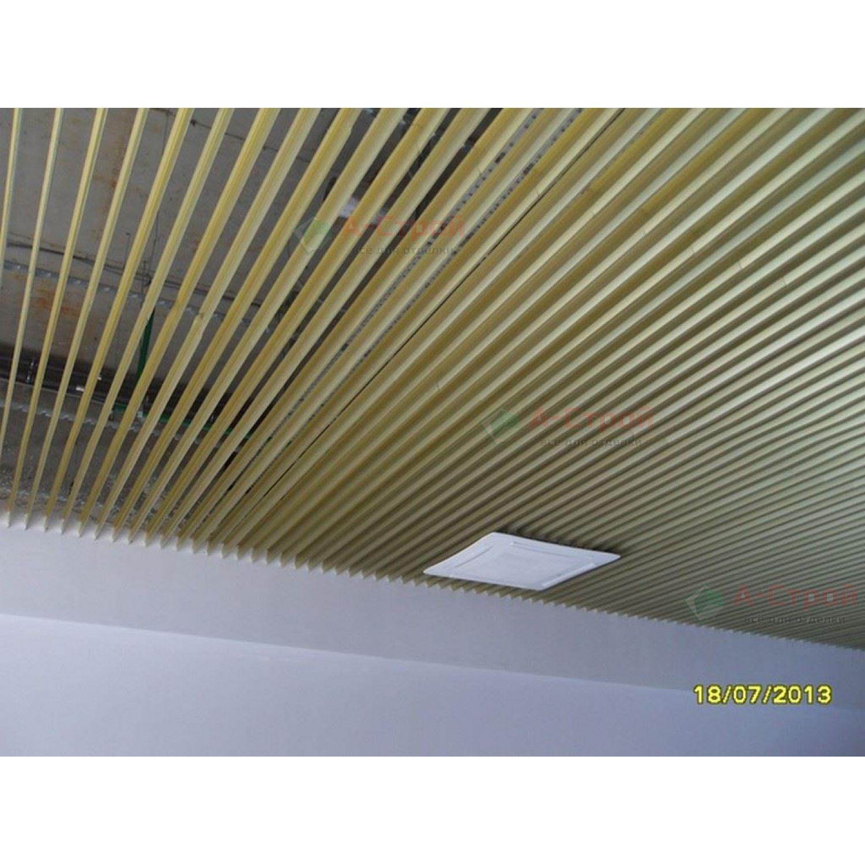 Реечный потолок «Пластинообразная рейка» (комплект)