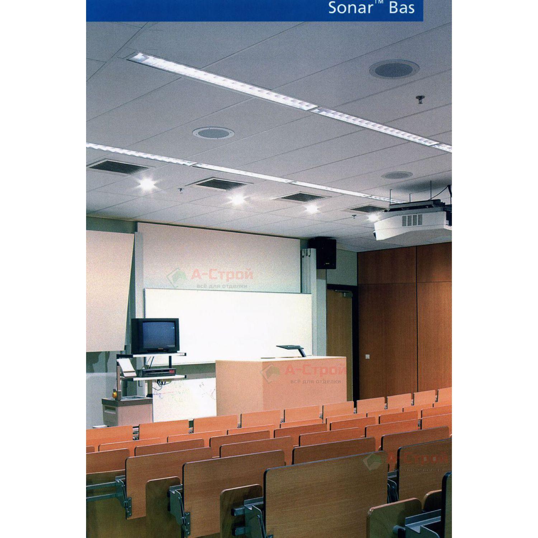 Подвесной потолок Rockfon Sonar Bas (Сонар Бас) (E24)
