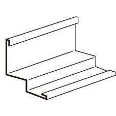Угол пристенный алюминиевый PLL 3000 мм (металлик 907)